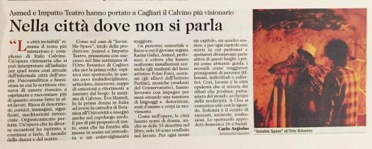 recensione di Carlo Argilas - Unione Sarda