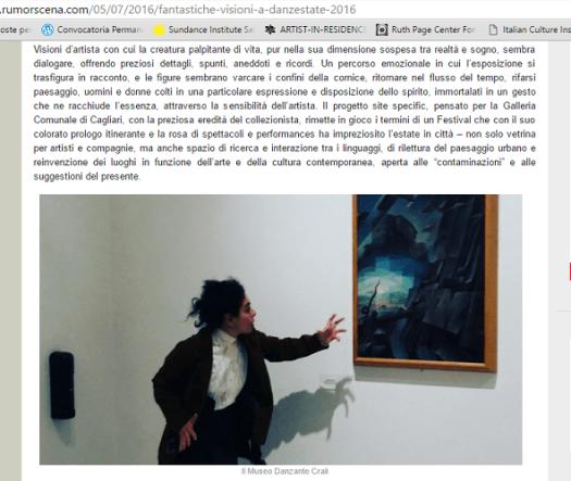 ARTICOLO rumorscena con recensione di Anna Brotzu
